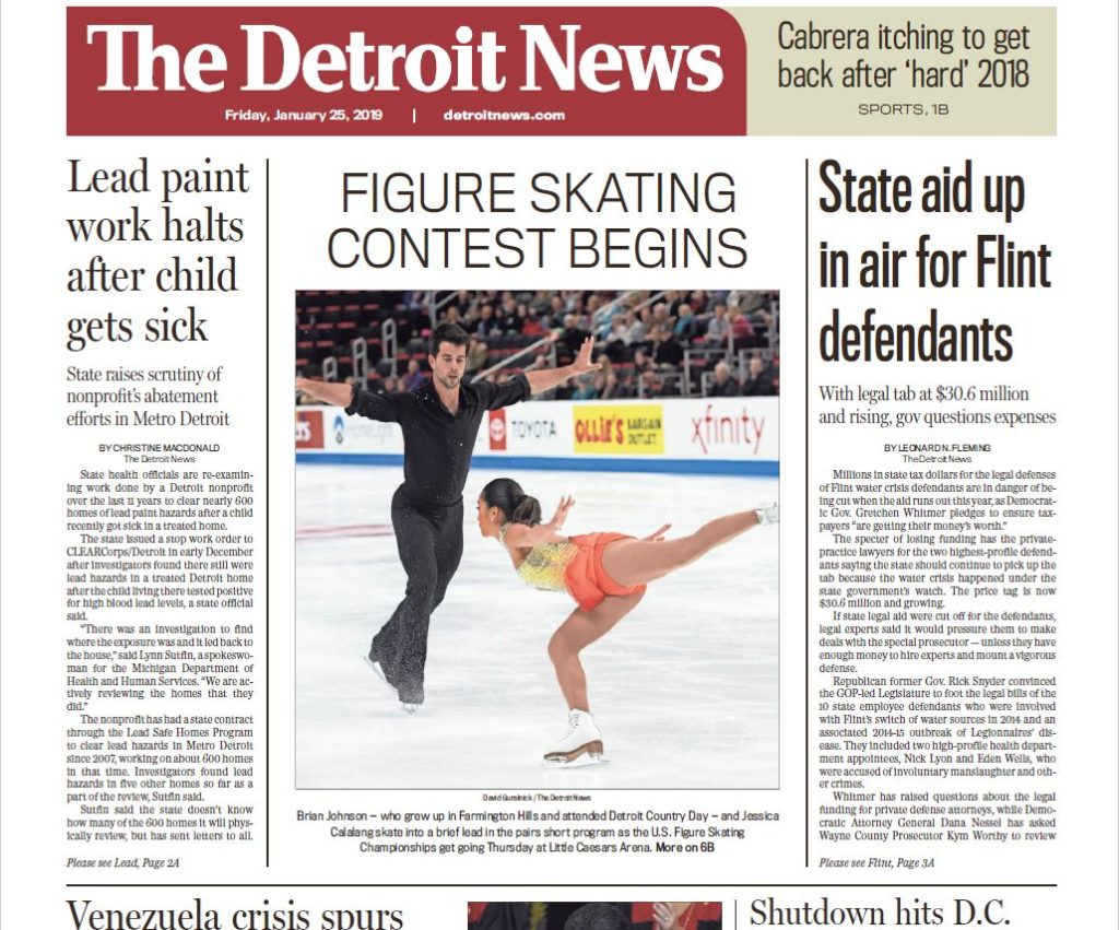 Brian Johnson was a hometown favorite and the pair made front page on Friday.